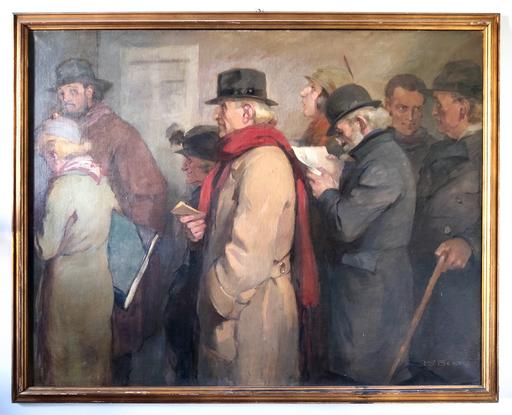 René BERTI - Gemälde - Gli scommettitori