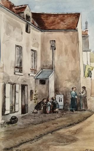 Alfred KELLER - Dibujo Acuarela - Saint Brice - Val d'Oise