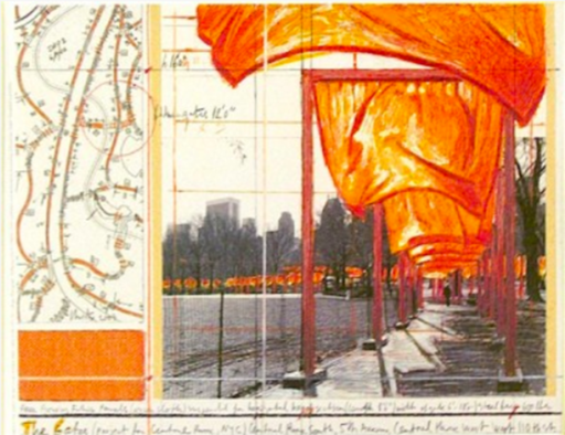CHRISTO - Estampe-Multiple - The Gates (a)