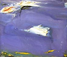 Olivier DEBRÉ - Pintura - bleu
