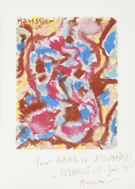 Alfred MANESSIER - Drawing-Watercolor - Composition 10.01.1965