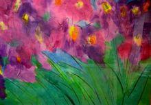 TING Walasse - Grabado - Purple Iris, +