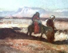 Jean-Joseph BELLEL - Painting - Flight to Egypt