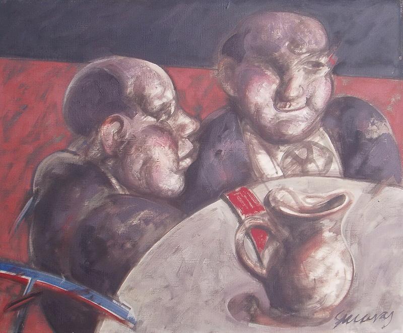 Alfonso SUCASAS GUERRA - Pittura - PRIMOS DA CELSA