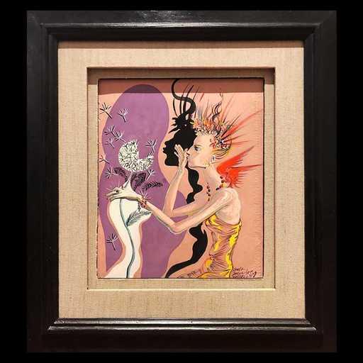 萨尔瓦多·达利 - 绘画 - Le Mannequin