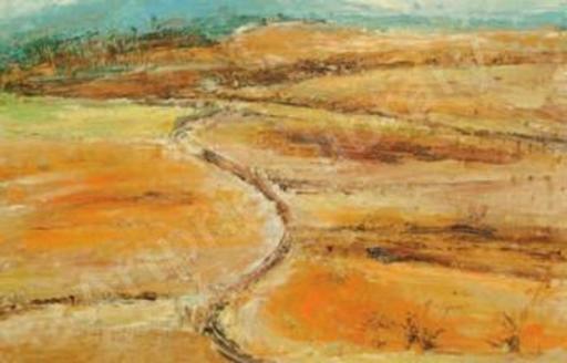 Barbara ROBINSON - Peinture - ditch in an orange landscape
