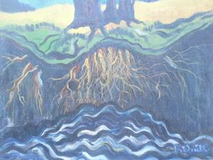 Roger QUILLERY - Peinture - Au bord du rahin