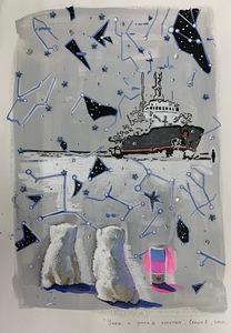 Anna SELINA - Painting - Umka and smart Speaker