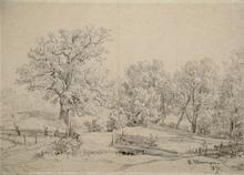 Ivan Ivanovitch SHISHKIN - Dibujo Acuarela - Landscape Study