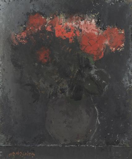 Junji YAMASHITA - Pintura - Pastel de fleurs, roses rouges