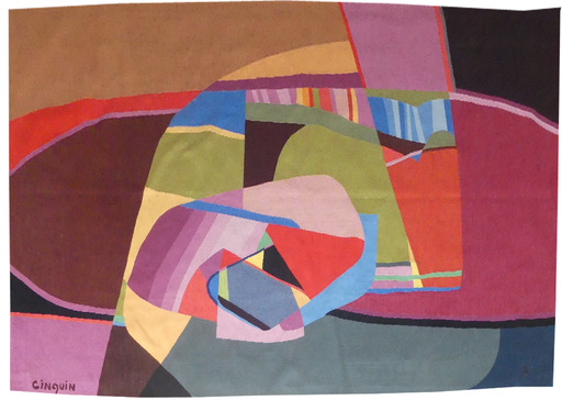 Jacques CINQUIN - Tapestry - Composition