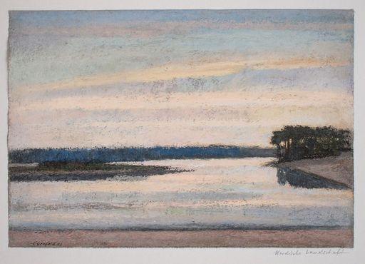 Ulrich EISENFELD - Disegno Acquarello - Nordische Landschaft