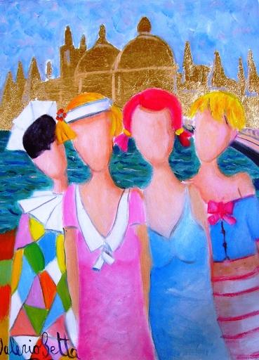 Valerio BETTA - Painting - Foto ricordo di Venezia con arlecchino