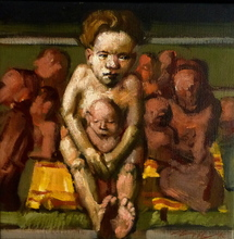 Jörg HERMLE - Pintura - Un moment de tendresse