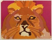 Charles LAPICQUE - Estampe-Multiple - Portrait de leon