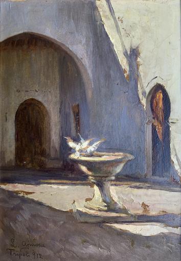 Lidio AJMONE - Gemälde - Tripoli