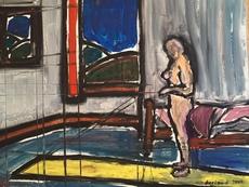 Christian DURIAUD - Pittura - Nu devant la fenêtre