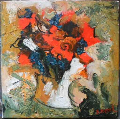 Bernard MOREL - Painting - FLEURS