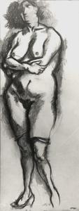 Renato GUTTUSO - Drawing-Watercolor - Nudo