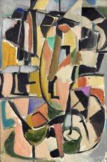 André LANSKOY - Pintura - Lecture Pour un Sourd-Muet