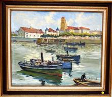 Henri-Alexis SCHAEFFER - Painting - Saint-Jean-de-Luz: le port