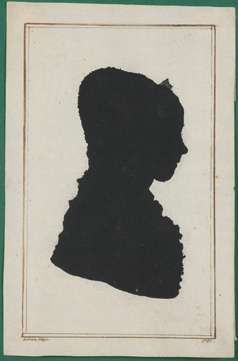 "Frank DEIWEL - Miniature - ""Silhouette Portrait"", 1780"