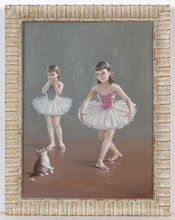 "August ALBO - Pintura - ""Ballet for a kitten"", oil on canvas, ca.1950"