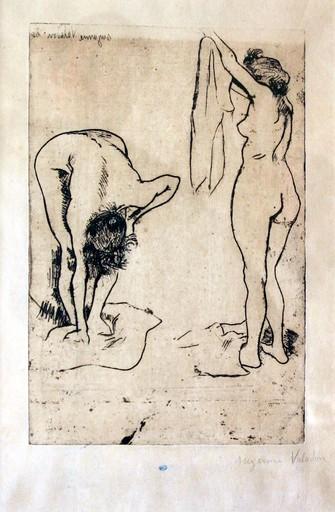 Suzanne VALADON - Print-Multiple - Deux nus s'essuyant