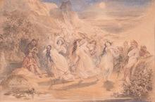 Daniel MACLISE - Drawing-Watercolor - The Dance