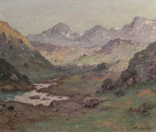 Albert REGAGNON - Painting - Environs de Bagneres de Bigorre