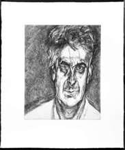 卢西安·弗洛伊德 - 版画 - Portrait of Martin Gayford