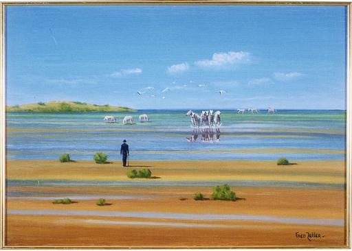 Fred ZELLER - Pittura - Les Chevaux De Camargue