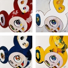 Takashi MURAKAMI (1962) - And Then x6 Red/ And Then x6 Blue/ And Then x 6 (White: The