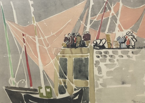 Édouard PIGNON - Print-Multiple - Les quais