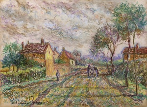 Paul Émile PISSARRO - Dibujo Acuarela - Country Lane
