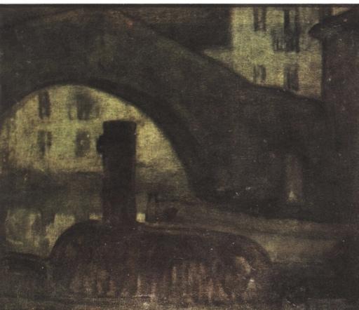 """Aurelio ARTETA - Painting - """"El puente"""""""