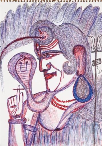 Kashinath CHAWAN - Dessin-Aquarelle - Untitled