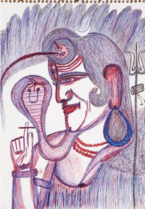 Kashinath CHAWAN - Dibujo Acuarela - Untitled