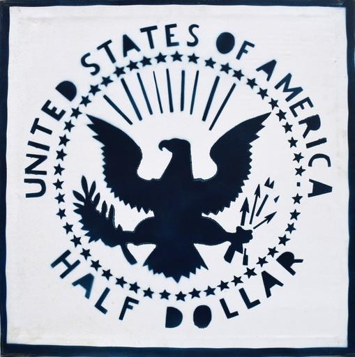 Franco ANGELI - Painting - Half Dollar (Antipittura)