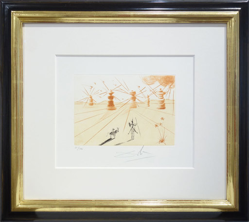 Salvador DALI - Print-Multiple - Don Quichotte and the windmills