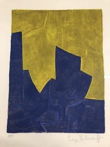 Serge POLIAKOFF - Print-Multiple - Composition Bleu et Jaune