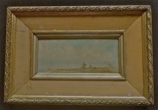 Fritz VON GUMSTER - Peinture - La plage
