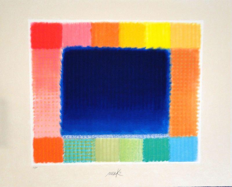 Heinz MACK - Grabado - Blue Field