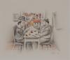 Fernando BOTERO - Drawing-Watercolor - El Brindis