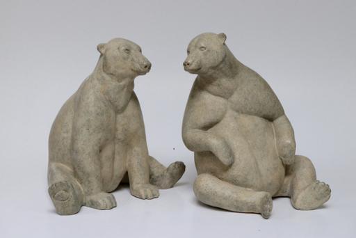 Florence JACQUESSON - Escultura - Couple d'ours polaire