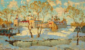 Konstantin Ivanovich GORBATOV, Russian Monastery in Winter,