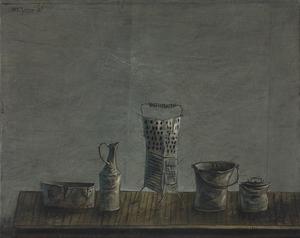 Yosl BERGNER - Painting - Vessels