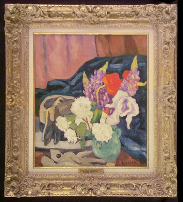 Louis VALTAT - Painting - Fleurs, gants et chapeau