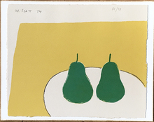 William SCOTT - Estampe-Multiple - Two Green Pears (Green Pears)