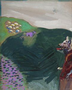 Marc CHAGALL - Zeichnung Aquarell - Le loup devenu berger